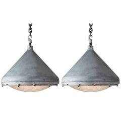 Crouse-Hinds Aluminium Pendant, circa 1950