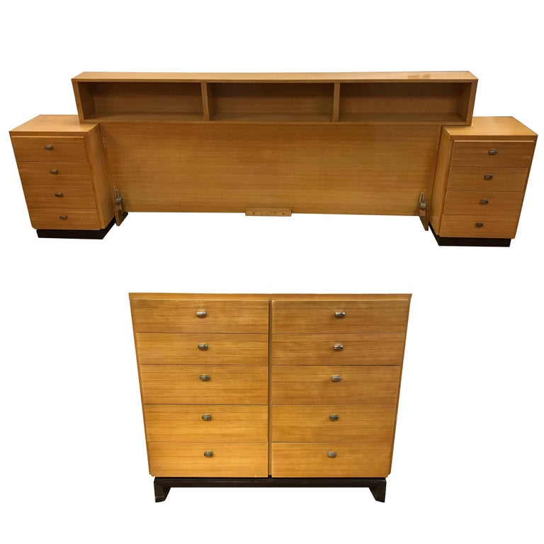 Midcentury four piece bedroom set american of martinsville for American martinsville bedroom furniture