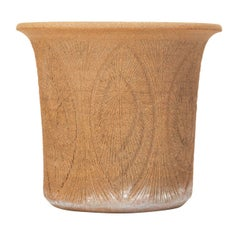 Robert Maxwell Incised Studio Pottery Planter with Flared Lip