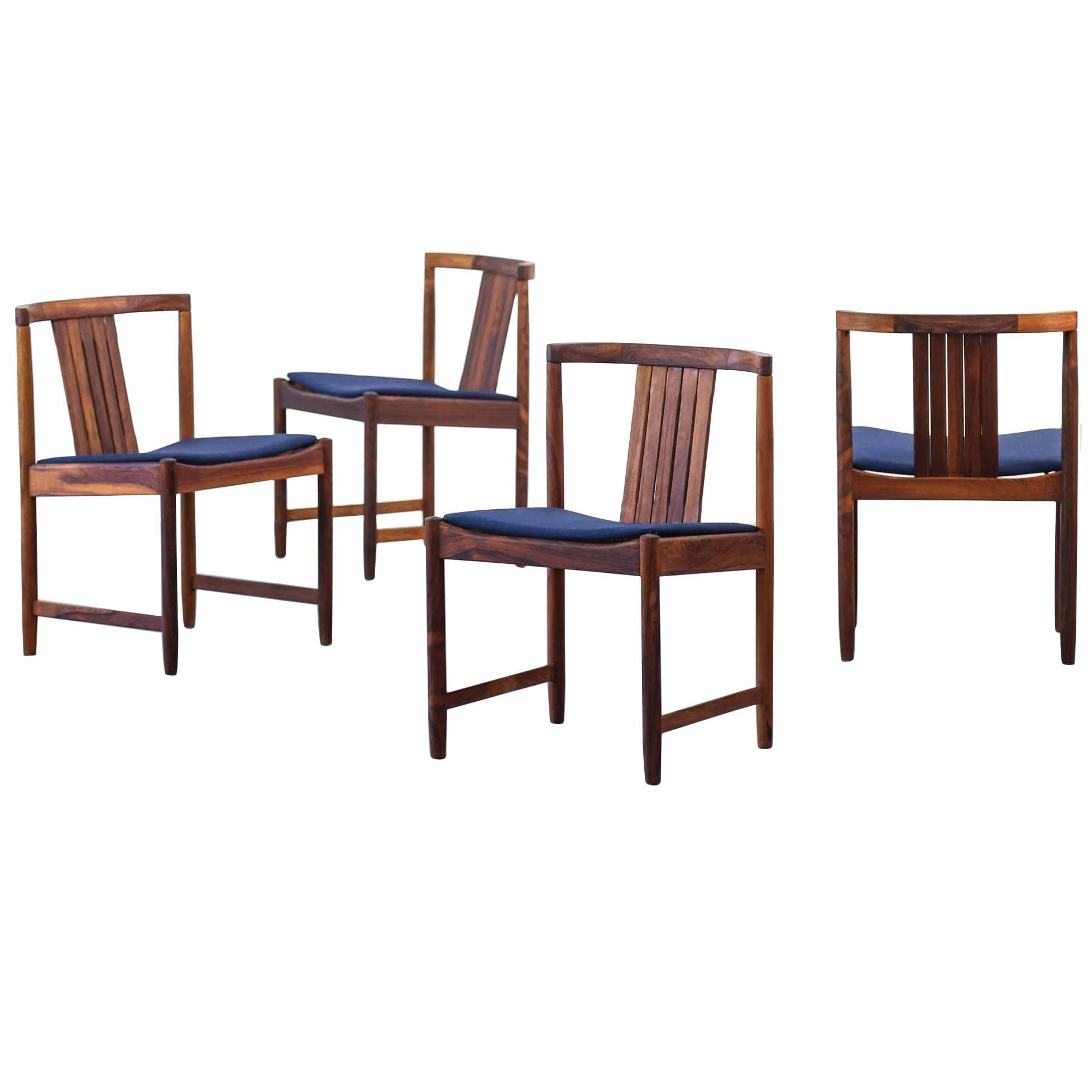 Set of Four Dining Chairs Attributed to Illum Wikkelsø Rosewood