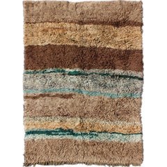 Vintage Turkish Tulu Rug with Modern Design for Modern & Contemporary Interiors