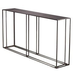 Loft Binate Contemporary Art Deco Minimal Steel Metal Console Table