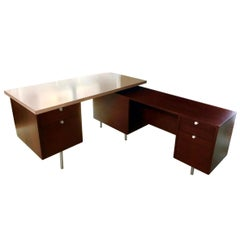 George Nelson Desk with Return