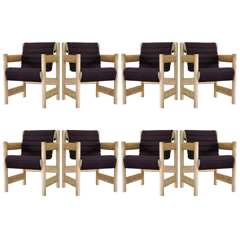 Set of Eight Børge Mogensen Style Dining Chairs in Pine, Danish, Midcentury