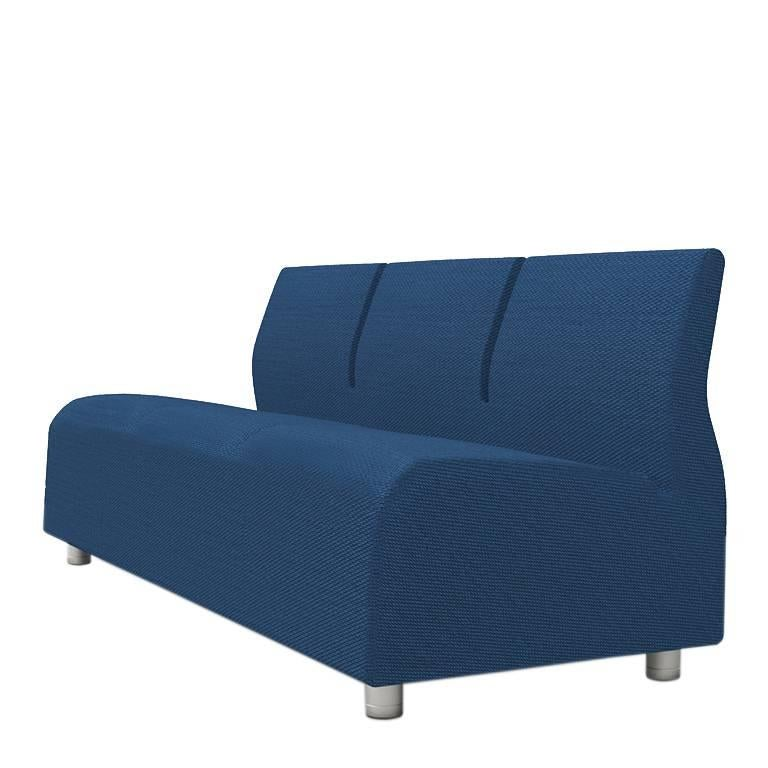 Three-Seater Conversation Upholstered Blue Sofa Satyendra Pakhale, 21st Century 1