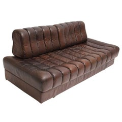 De Sede DS 85 Brown Leather Daybed or Sofa 1970s, Switzerland