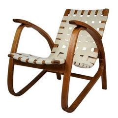 Iconic Lounge Chair by Jan Vanek, 1930s