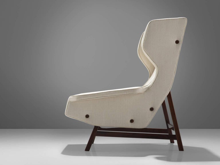 Mid-Century Modern Gianfranco Frattini Reupholstered Lounge Chair for Cassina