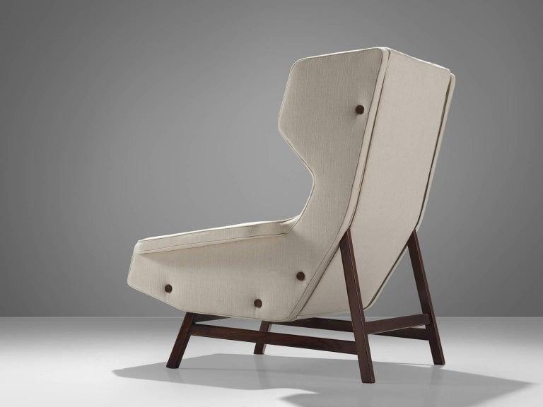 Italian Gianfranco Frattini Reupholstered Lounge Chair for Cassina