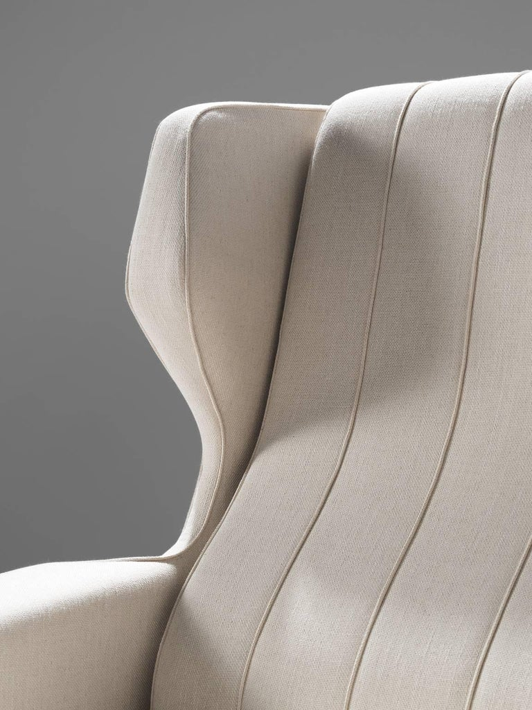 Gianfranco Frattini Reupholstered Lounge Chair for Cassina 1