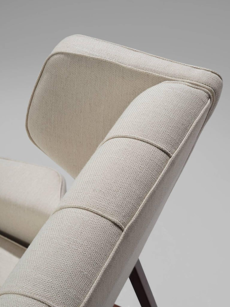 Gianfranco Frattini Reupholstered Lounge Chair for Cassina 2