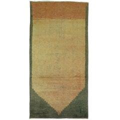 Vintage Turkish Modernist Carpet