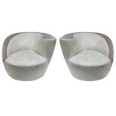 Pair of Vladimir Kagan Corkscrew Swivel Chairs