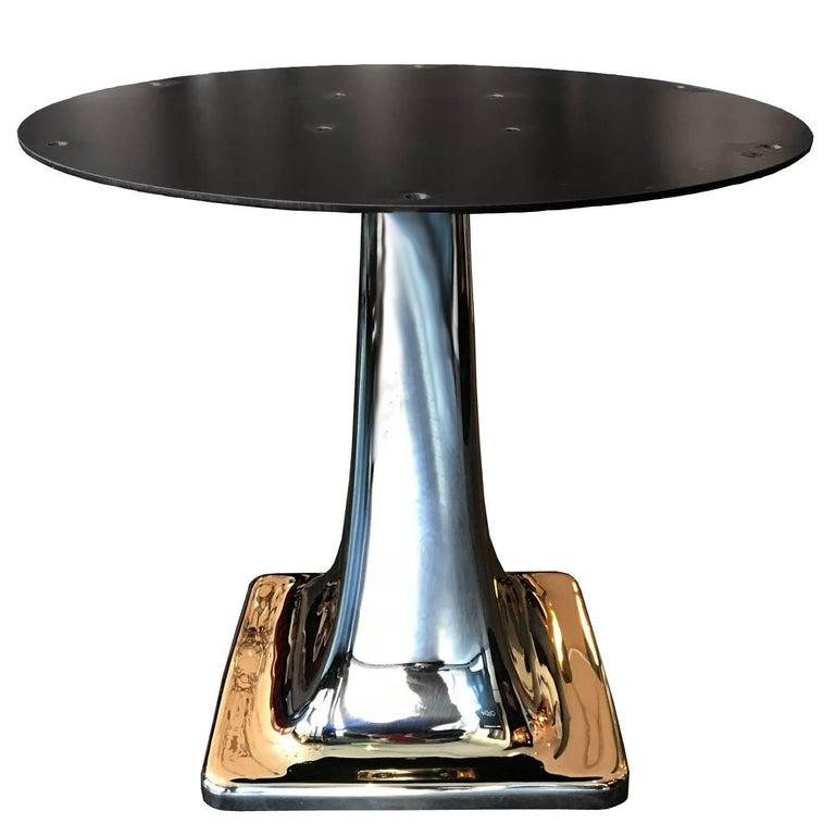 Solid Cast Bronze Pedestal Table Base For Sale