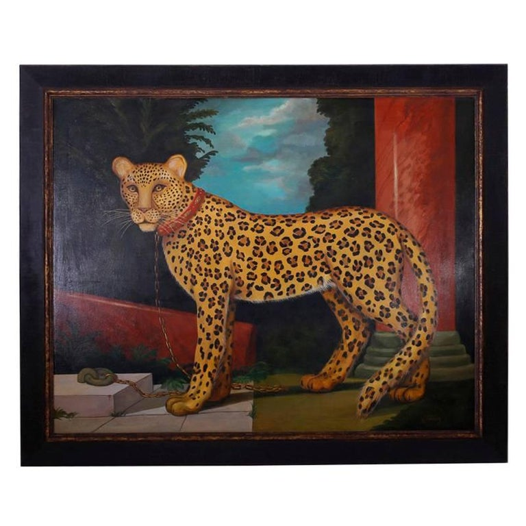Oil Painting on Canvas of a Leopard by William Skilling