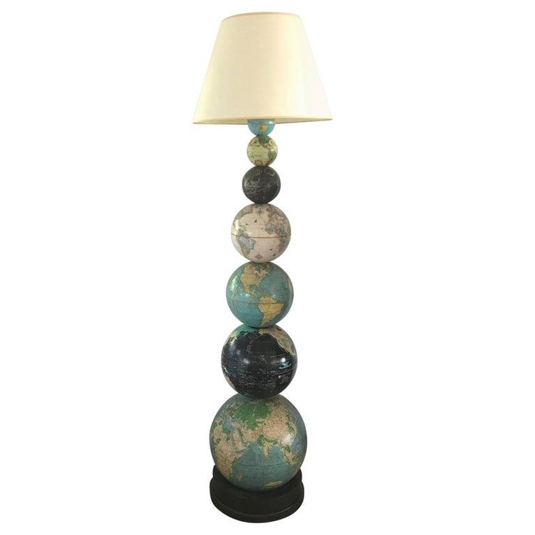 Vintage globe floor lamps for sale at 1stdibs for Retro globe floor lamp