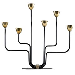 Candelabra in Metal and Brass by Gunnar Ander for Ystad Metal
