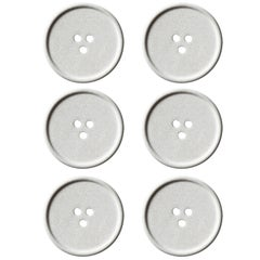 Handmade Cast Concrete Bouton 'S' in Grey by UMÉ Studio, Set of Six