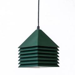Forest Green Metal Pendant Lamp by Hans-Agne Jakobsson, Sweden, 1960s