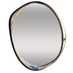 Contemporary 'a. Cepa' Polished Bronze Wall Mirror by Konekt