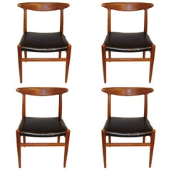 Set of Four Vintage Hans Wegner W2 Chairs