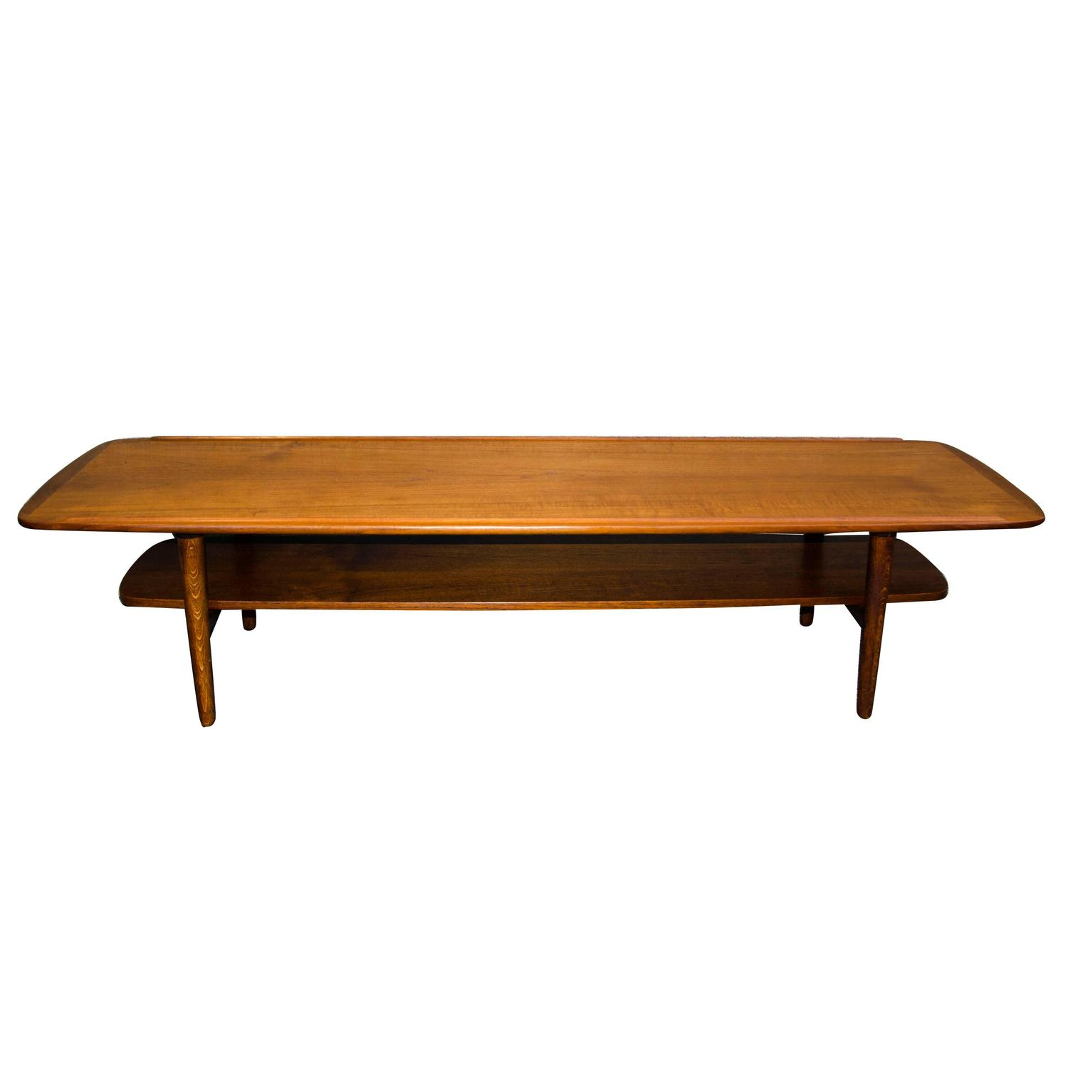 mid century danish teak coffee table at 1stdibs. Black Bedroom Furniture Sets. Home Design Ideas