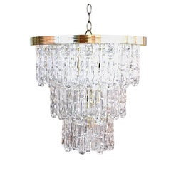 Tiered Lucite Icicle Chandelier