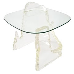 Lucite 'Iceberg' Side Table from Lion in Frost, 1970s, USA