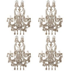 Italian Florentine Beaded Sconces