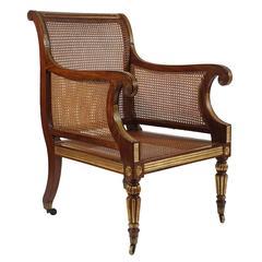 Fine Regency Parcel-Gilt Armchair, England, circa 1810