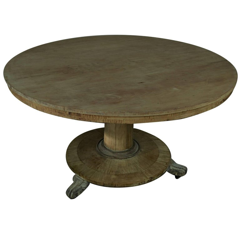large round antique bleached dining table english regency at 1stdibs. Black Bedroom Furniture Sets. Home Design Ideas