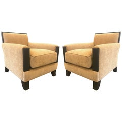 Pair Art Deco Style Lounge Chairs