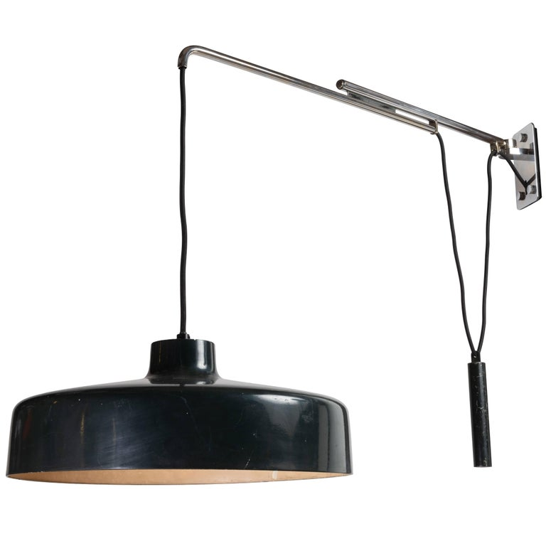 Gino Sarfatti Model 194N Adjustable Wall Light for Arteluce, circa 1950