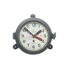 French Navy 1960s Radio Room Bulkhead Clock