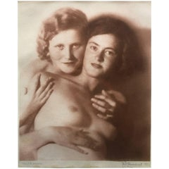 Nude photo Two Women Austria Sign J. Streicher, 1932