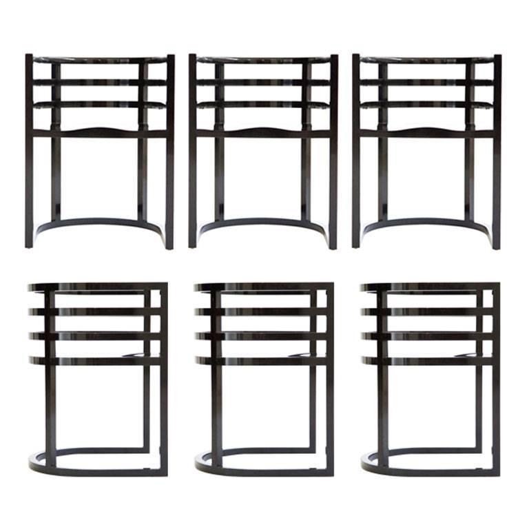 Set of Six Richard Meier Dining Room Chairs