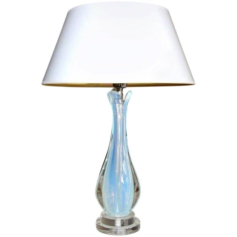 Italian Murano Glass Opalescent Table Lamp