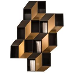 'Cinétisme I 'Gold' Wall Cabinet by Charles Kalpakian