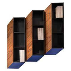 'Cinétisme II (Blue)' Wall Cabinet by Charles Kalpakian - In Stock