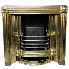 19th Century Regency Brass Scottish Register Fireplace Insert Grate