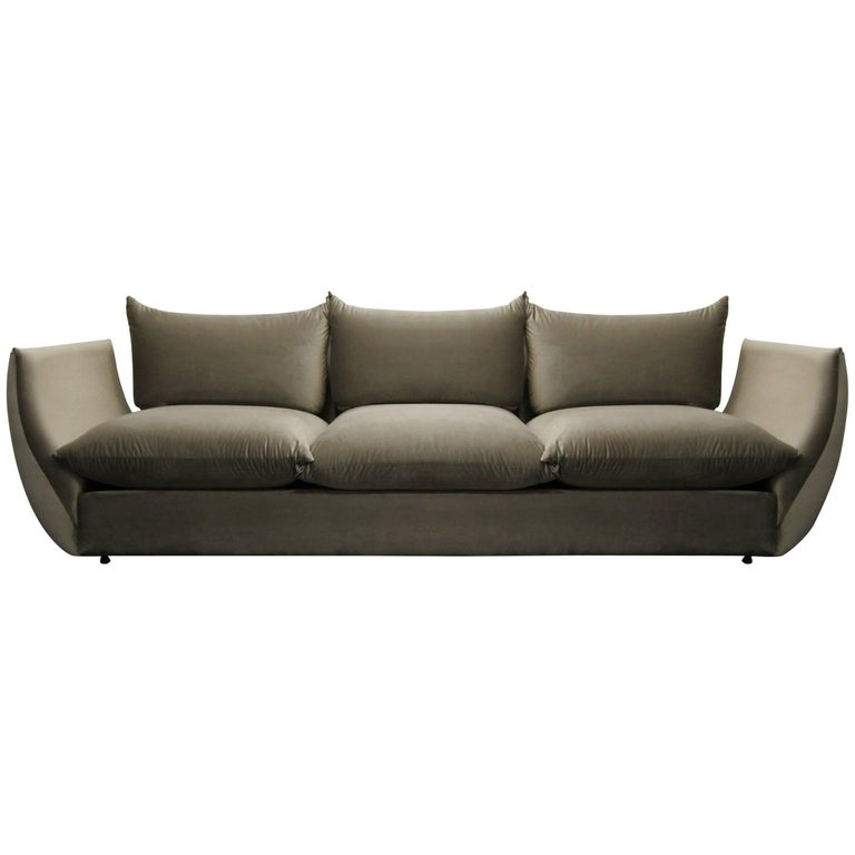 Midcentury Italian Gondola Style Sofa in the Manner of Mario Marenco for Arflex