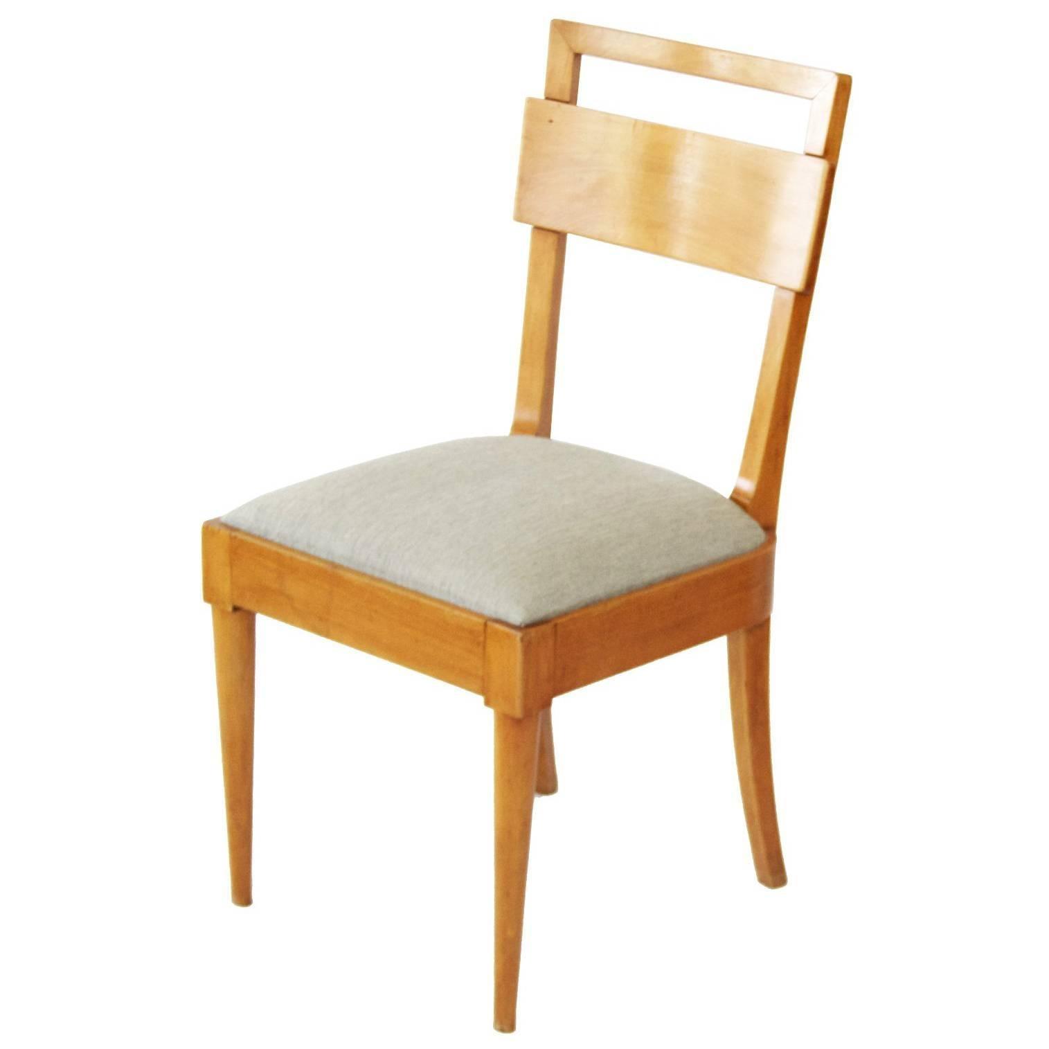 Teperman Midcentury brazilian chair in Ivory Wood, 1960s