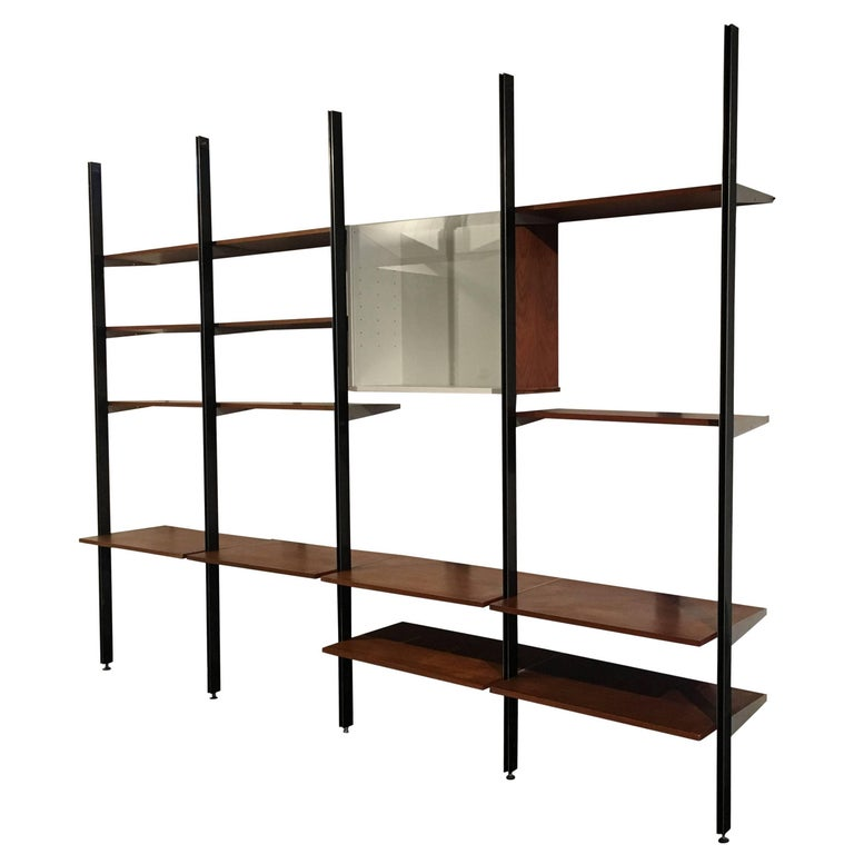 George Nelson Four Bay CSS Shelving Unit, Herman Miller, 1960 For Sale
