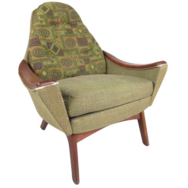 Mid-Century Modern Armchair in the Style of Adrian Pearsall
