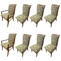 Set of Eight Henredon Art Deco Style Dining Chairs