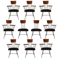 Set of Ten Selrite Dining Chairs