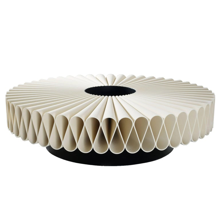 Coffee Table 3D-Printed PMMA, Steel Sheet Table Base, Powder-Coated For Sale
