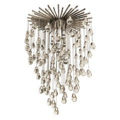 Flush Mount Chandelier by Zero Quattro with Glass Spheres