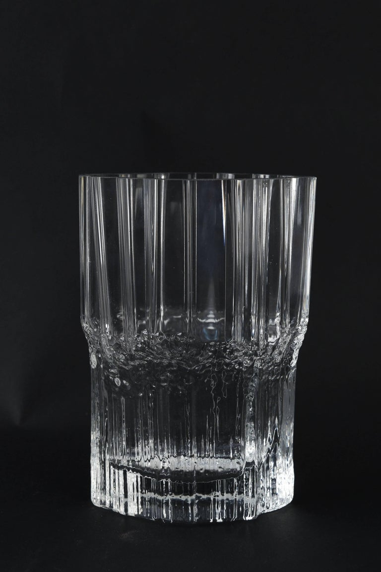 A beautiful vase in the icicle or iceberg form for Iittala.
