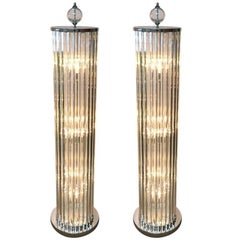 Italian Crystal Bars Floor Lamps